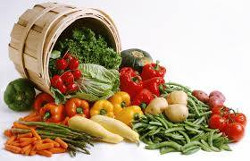 basket and organic food image